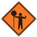 Rental store for Road Sign, 30x30 , Flagger Ahead in Prince George BC